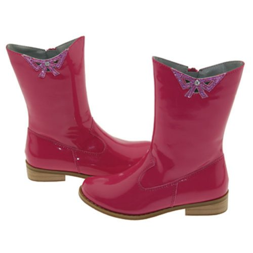 Girls Fuchsia Patent Cutout Bow Fashion Boots Toddler Little Girls 7-4