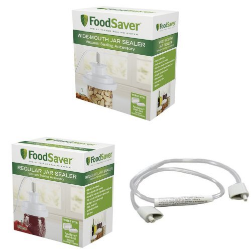 FoodSaver Wide-Mouth Jar Sealer and Regular-Mouth Jar Sealer Bundle