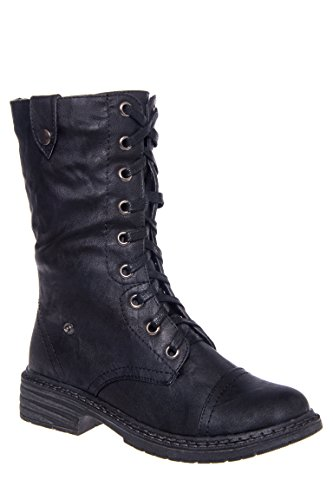 Crowley Mid-Calf Lace-Up Boot