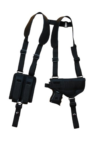 Barsony Nylon Shoulder Holster W/ Double Mag Pouch Cz-P01 Cz-P07 Duty Right