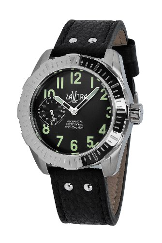 Zavtra T-37 Air To Ground Mechanical Movement Leather Strap Watch Zt002Bk