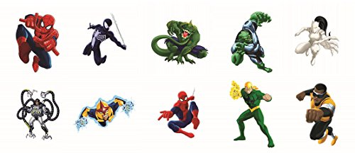 Marvel Ultimate Spider-man Temporary Tattoos Full Set of 10 pcs (Includes Spiderman, Powerman, Venom, White Tiger Nova and more) - 1