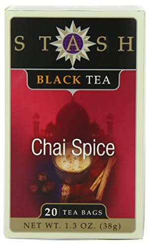 Stash Tea Chai Spice Black Tea, 20 Count Tea Bags in Foil