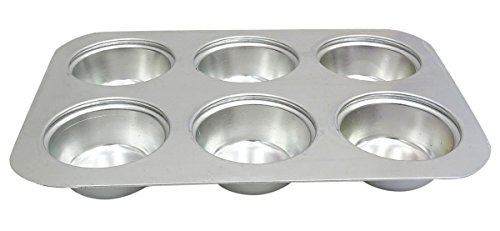6 Cavity Cupcake Tray Round Aluminum Tin Cake Pudding Muffin Bakeware Mould