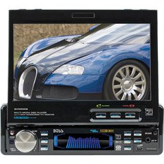 "Boss BV9990 In-Dash 7"" DVD/MP3/CD Widescreen Receiver with USB, SD Card, and Front Panel AUX Input"
