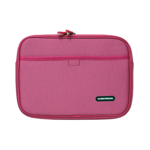 CaseCrown Double Memory Foam Neoprene Netbook Sleeve w/Front Pocket (Pink) for the Apple iPad