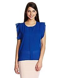 KIMYRA Women's Body Blouse Shirt (SV001201_Blue_Small)
