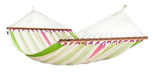 La Siesta Colada High Comfort And Rip Proof Double Hammock With Spreader Bars, Kiwi