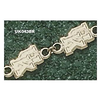 Kentucky Wildcats UK 7.5 Bracelet - 14KT Gold Jewelry by Logo Art