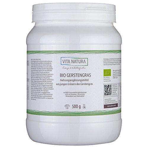 Polvere di erba d'orzo biologica 500 g