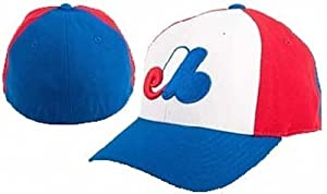 Montreal Expos 1969-91 Cooperstown Fitted Hat - White Royal Red 7 3 8 by MLB