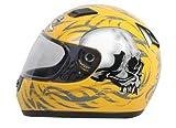 Daytona Helmets Shadow Yellow Skulls Full Face Helmet