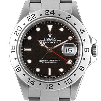Rolex Oyster Perpetual Explorer II Steel Mens Watch 16570