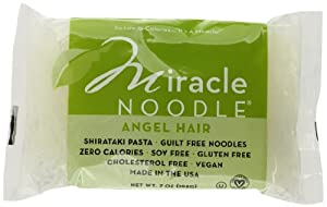 Miracle Noodle Shirataki Pasta, Angel Hair, 7-Ounce (Pack of 6)