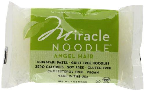 Miracle Noodle Shirataki Zero Carb, Gluten Free Pasta, Angel Hair, 7-Ounce (Pack of 6) (Spaghetti Shirataki compare prices)