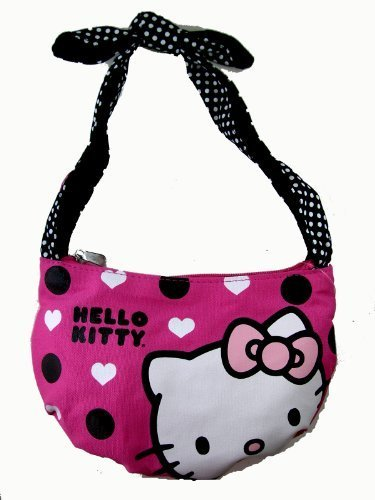 Hello Kitty Mini Tie Top Hobo Bag – Sanrio Hello Kitty Soft Pouch Purse