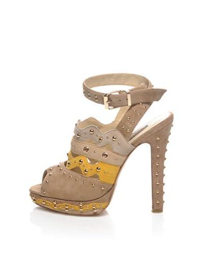 CINTI Sandalo Con Tacco [Giallo/Beige]