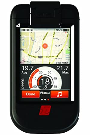 iBike Dash Deluxe CC Cycling Computer for iPhone 3G/3GS/4 and iPod Touch