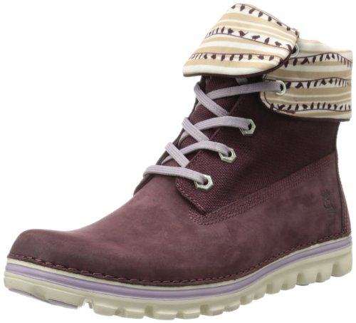 Timberland Women's Brookton Roll Top Snow Boot,Merlot/White,6 W US