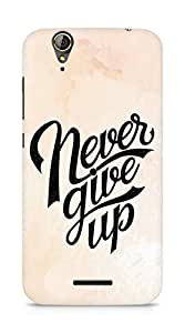 AMEZ never give up Back Cover For Acer Z630S
