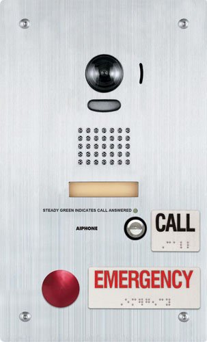 """Aiphone Corporation Is-Dvf-2Ra Ada Compliant Rescue Assistance Station For Is Series, Local Hardwired Video Intercom, Stainless Steel, 7"""" X 11-3/4"""" X 1-7/8"""""""