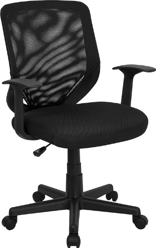 Black Mesh Office Chair  Mesh Back and Mesh Fabric