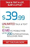 Red Pocket $39.99 Unlimited Plan for 30 Days Airtime Card