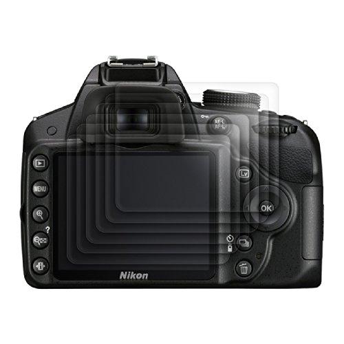 6x kwmobile® Displayschutzfolie für Nikon D3200 in KRISTALLKLAR - Premiumqualität