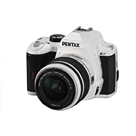 Pentax K-r 12.4 MP Digital SLR Camera with 3.0-Inch LCD and 18-55mm f/3.5-5.6 Lens (White)