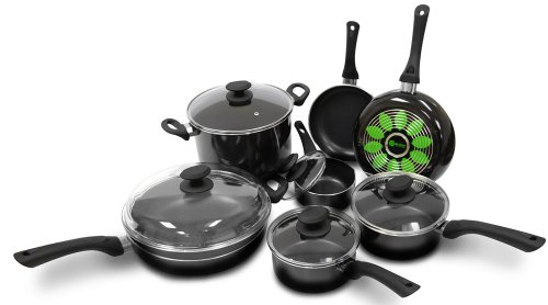 Ecolution Artistry 12-Piece  Cookware Set, Black