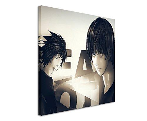Quadro su Tela 60 x 60 cm Quadro Death_Note_Anime_ come schoener stampata su vera tela come quadro su telaio