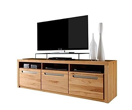 trendteam ZO TV Möbel Lowboard TV Unterteil | Korpus Kernbuche | Fronten in Kernbuche Massiv | 178 x 59 x 50 cm