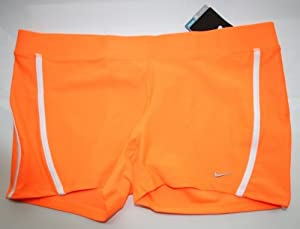 NIKE RUNNING Womens Dri-FIT TEMPO BOYSHORTS New LARGE Orange Shorts 519835 810