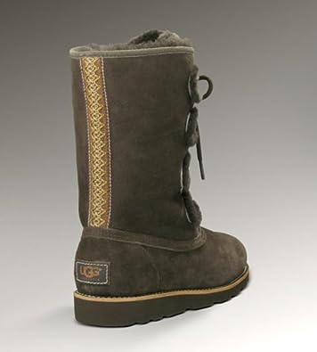 (4.6折)澳洲UGG Newberry Boot Womens 女士真皮防水皮毛一体雪地靴Stout$113.98 第3方