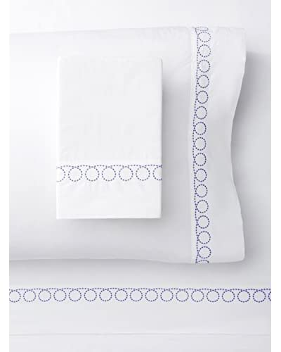 Mélange Home Egyptian Cotton Loops Embroidery Sheet Set