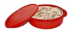 Oliveware Plastic Papad And Khakra Box, 1 Piece, Red