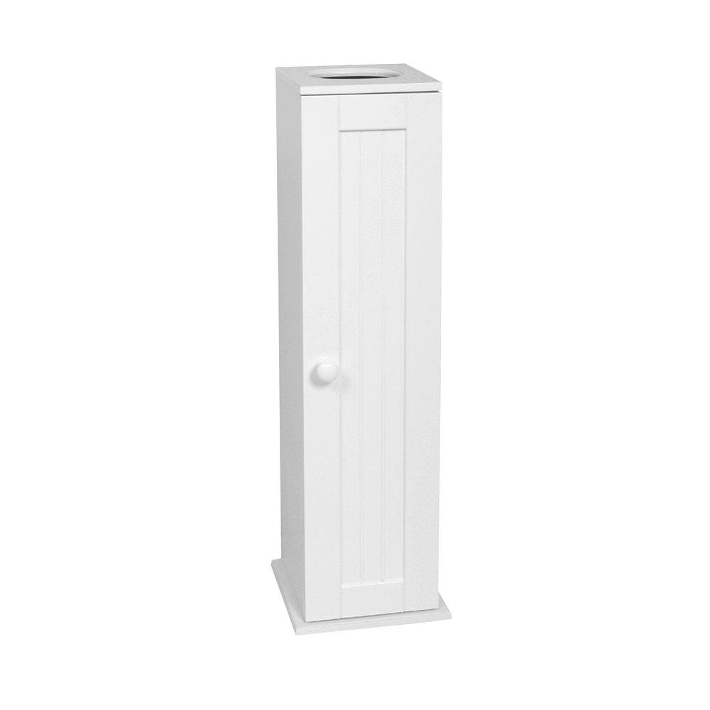 white wood cottage toilet paper holder set shelf cabinet bathroom 4 rolls tissue ebay. Black Bedroom Furniture Sets. Home Design Ideas
