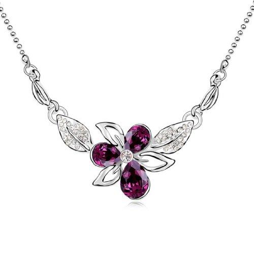 Boxingcat Fine Jewelry Swarovski Style Clear Austrian Crystal Pendant Necklaces Bgca9393 front-796705