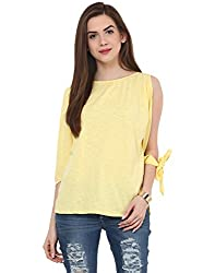 Yellow Slit Tie T Shirt Small