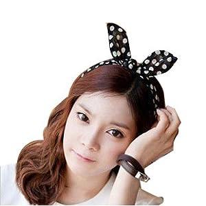 Amazon Com Wisedeal Lady Women Girls Cute Rabbit Ear Dot
