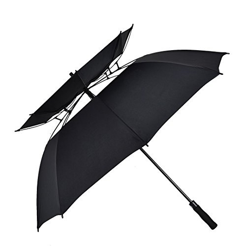 Atree-Stick-Umbrella-Durable-and-Strong-Enough-for-the-Fierce-Wind-and-Heavy-Rain-Unisex-Golf-Umbrella-Color-Black-with-Double-canopy-8-Ribs
