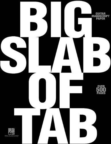 Big Slab of Tab Guitar Manuscript Paper 8 Stave