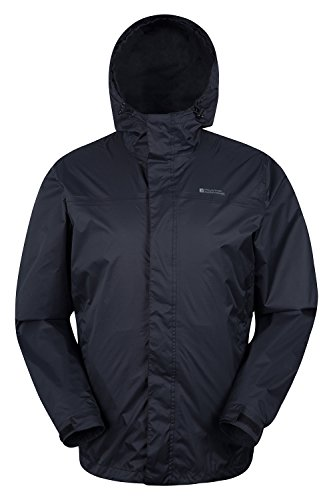 Mountain Warehouse Torrent Herren wasserdichte atmungsaktive jacke mantel mit Kapuze warme Outdoorjacke