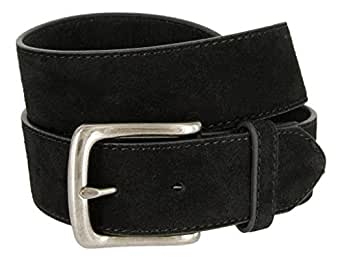 Casual Jean Suede Leather Belt for Men (Black, 30)