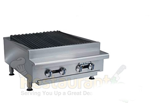 "Imperial Commercial Radiant Char-Broiler 24"" Wide 4 Stainless Steel Burners Nat Gas Model Irb-24 front-605502"