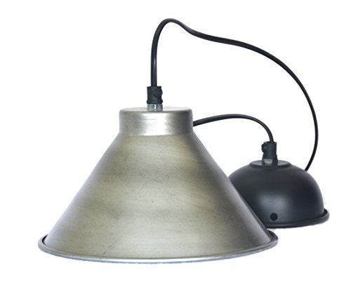 Beautiful Pendant Lamp with Silver antique finish. E27 holder included.