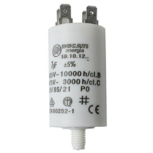spares2go Start Run Motor Kondensatoren für Bosch Geräte 331.13215uF MF bis 80uF Spaten Connector/Tags 7UF