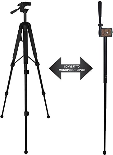 Professional CONVERTIBLE Tripod / Monopod for Nikon Coolpix P900 With Quick Release Mount & Carrying Case - Tri-pod, Mono-Pod - Durable & Stable Photo + Video Support (Tri Pod Feet compare prices)