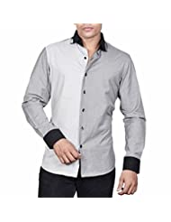 Dazzio Men's Slim Fit Cotton Casual Shirt - B00MNCUXAK
