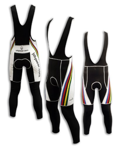 Buy Low Price JOLLYWEAR Cycling Thermal Bib Tights (JW WORLD WHITE collection) (B003IICR66)